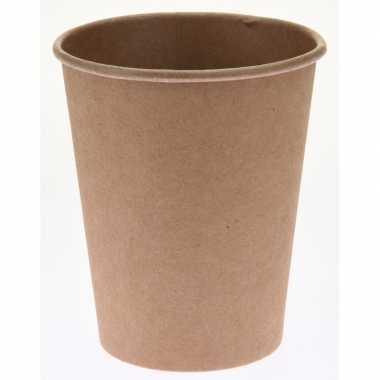 40x duurzame gerecyclede papieren koffiebeker/drinkbeker 250 ml