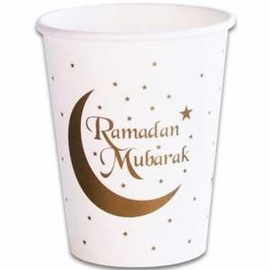 8x ramadan mubarak thema bekertjes 256 ml