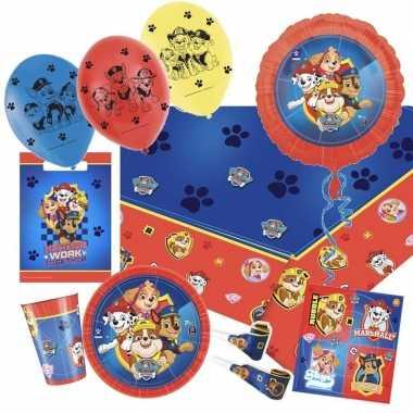 Mega paw patrol themafeest versiering pakket 9-16 kinderen