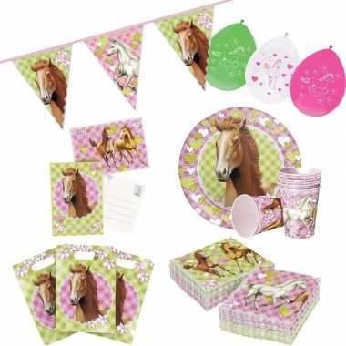 Paarden thema kinderfeestje versiering pakket 7-12 personen