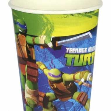 Turtles themafeest drinkbekertjes
