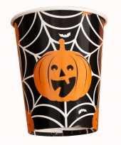 Halloween 10x halloween pompoen bekers