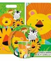 Jungle thema kinderfeestje versiering pakket 2 8 personen