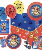 Mega paw patrol themafeest versiering pakket 9 16 kinderen