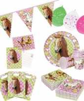 Paarden thema kinderfeestje versiering pakket 7 12 personen